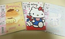 Sanrio Daily Notebook 2022 Cinnamoroll Pom Pom Purin Hello Kitty A6 Compact Size