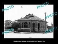 OLD LARGE HISTORIC PHOTO OF MOORA WESTERN AUSTRALIA, THE POST OFFICE c1940