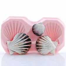 Clam Shell Sea Shell Mold Fondant Chocolate Sugar Soap Wax Clay Resin Epoxy (881