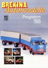 Brekina prospectus Modèle Voitures 1988 h0 1:87 brochure Model Cars MERCEDES 190 L 311