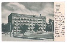 Kansas postcard Topeka General Offices of Santa Fe Railroad pre-1907