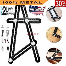 Universal Angleizer Ruler Template Tool with Multi Angle Measuring Full Metal