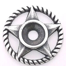 "Western Roped Star Bezel Concho in Antique Silver 3/4"" 7785-07"
