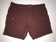 Marc By Marc Jacobs Patch Pocket Shorts in Misty Merlot Burgundy Red Sz 2 NEW