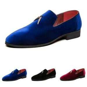 Men Slip on Loafers Driving Moccasins Wedding Formal Casual Leisure Leather Shoe