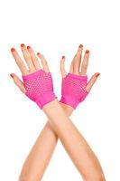 80s Goth Rockabilly Punk Rock Fingerless Fishnet Thick Diamond Net  Wrist Gloves