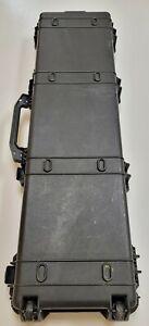 Pelican 1750 Scoped Rifle Case w/ Wheels Foam Black Pressure Relief Valve
