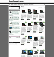 UK LAPTOP WEBSITE WITH ONE YEARS HOSTING & FREE DOMAIN