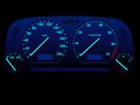 blaue high Power LED Tacho Beleuchtung für Audi A4 B5 bis 1997 Umbauset blau  71