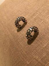 Retired John Hardy Dot Huggie Hoop Sterling Silver Earrings