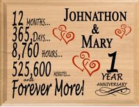 1st Anniversary Gift PERSONALIZED FAST 1 First Year Her Him Couple Wife