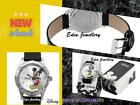 RARE AUTHENTIC Disney MICKEY MOUSE Ladies Watch Leather Model MCK192 BIG DIAL