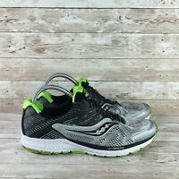 Saucony Ride 10 Mens Size 10 Wide Silver Black Athletic Training Running Shoes