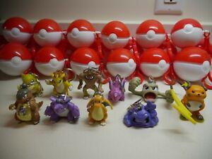 Vintage 1999 Pokemon Burger King Figures Toy / Pokeball - Keychain Toy Set of 10