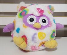 TIM THE TOYMAN MULTI COLOURED OWL PLUSH TOY! SOFT TOY ABOUT 17CM TALL KIDS TOY!