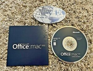 LOT OF 3 MICROSOFT OFFICE MAC 2011 HOME BUSINESS 1 PACK SOFTWARE
