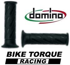Domino Road Monocromo apretones negro (par) Suzuki DR350