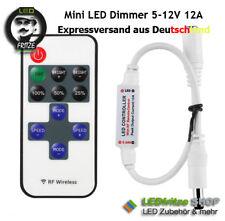 Mini LED Dimmer & Controller + 11 Key Fernbed. 12A 144W 5V - 12V - 24V