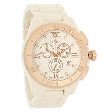 LeVian Ladies Diamond Ceramic Day/Date Swiss Chronograph Quartz Watch ZRPA 18