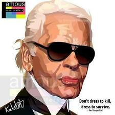 Karl Lagerfeld canvas quotes wall decals photo painting framed pop art poster