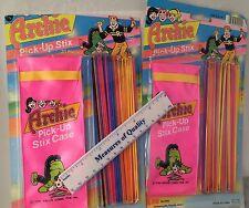 Archie Comic Pick up Stix Sticks lot of 2 Games Jughead MOC NIP Ja-Ru 1986  r3