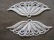 10 PCS VINTAGE NATURAL LIKE-FAN COTTON VENISE APPLIQUE