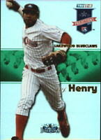 2008 TRISTAR PROjections Reflectives Green #185 C.J. Henry /50 - NM-MT