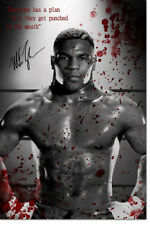MIKE TYSON BADASS QUOTE PHOTO PRINT POSTER PRE SIGNED - 12 X 8 INCH