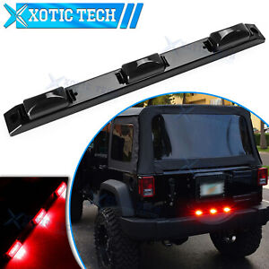 For Jeep Wrangler Grand Cheroke Red Smoke LED Rear Tailgate Trunk Tail Light Bar