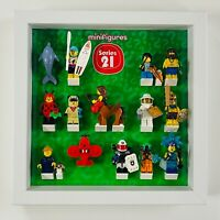 Display Case Frame for Lego Series 21 minifigures 71029 no figures 25cm