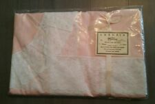 Matouk Twin Blanket Cover Pink White Lace - Luxuria