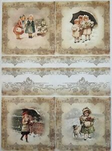 Rice Paper for Decoupage Scrapbook Craft Winter Picture 198