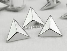 100 Pcs Rivets Spike Studs Punk Bag Belt Leathercraft DIY Silver Triangle 15mm