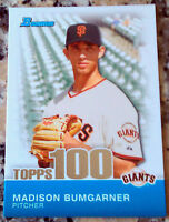 MADISON BUMGARNER 2010 Bowman Topps 100 Rookie Card RC San Francisco Giants HOT