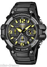 Casio Men's Chronograph Watch, 100 Meter WR, Black Resin, Date, MCW100H-9AV