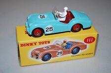 ATLAS DINKY TRIUMPH TR2 SPORTS CAR Blue No 29 111 UK ISSUE