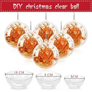 20/40x Weihnachtskugeln Kunststoffkugel Transparent Christmas Balls Acrylkugeln