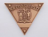 New Jersey State Police MINI PIN Copper Bronze Trooper Lapel Badge NJ NJSP Tie