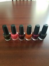 Lot of 6 New Full Size Opi Nail Lacquer .5 oz. each