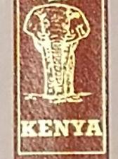 Kenya Bookmark Wild Animals Buffalo Rhino Zebra Hippo Lion Elephant Brown Gold