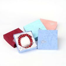 12pc Mixed Color Cardboard Bracelet Boxes Valentines Day Gifts Packages 8.8cm