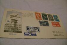 ISRAEL(1950)-SC#C1-C6-First Airmail Birds/LYDDA-NEW YORK-FIRST FLIGHT-FDC