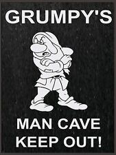 Grumpys Man Cave, Retro Vintage Aluminium Sign Pub Bar man Cave wall