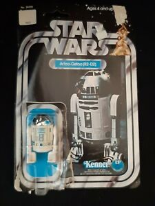 Star Wars Kenner 1977 R2D2 Figure w/Card & Bubble