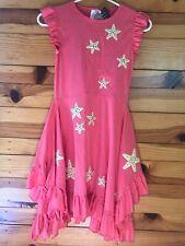 NWT Lemon Loves Lime Rhinestone Starfish Dress Girls Coral Ruffled Twirl Size 10