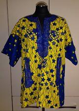 Stunning Traditional African Dashiki Style Top - Yellow - size UK 18-20   (#B53)