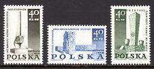 Poland - 1967 Monuments WW II - Mi. 1790-92 MNH