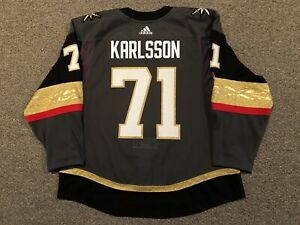 William Karlsson - Vegas Golden Knights - 2017-18 Adidas Home MiC Jersey sz 58+