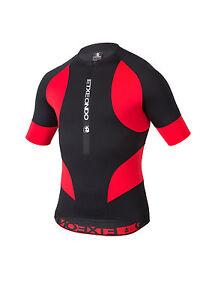 CYCLING JERSEY SHORT SLEEVE in Black / Red ETXEONDO Trier TX