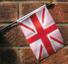 UNION JACK PINK flag PACK OF TEN SMALL HAND WAVING FLAGS Gay pride rainbow